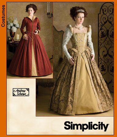SIMPLICITY SEWING PATTERN 9929 OOP MISSES RENAISSANCE COSTUMES 6-12 OR 14-20
