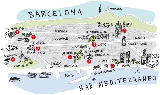 El Born Barcelona Mapa.Resultado De Imagen De Barcelona Mapa Turistico In 2019