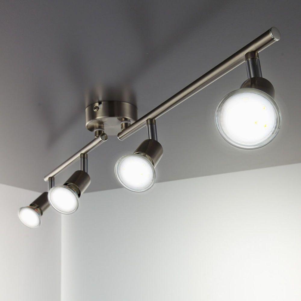 LED Deckenleuchte Design Deckenlampe Deckenspot Chrom Deckenstrahler Wohnzimmer