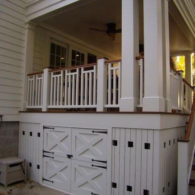How Would You Utilize The Space Below Your Deck Porch Storage