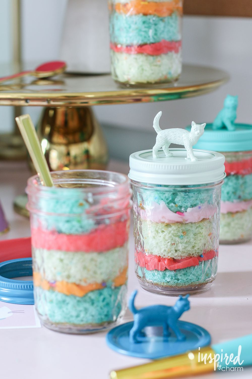 Mason Jar Cakes Come As You Are-ty | inspiredbycharm.com