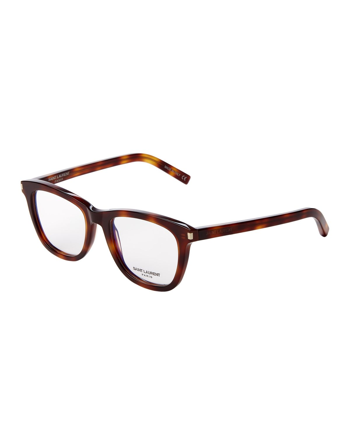 d96730a953f Saint Laurent SL168-002 Tortoise Square Optical Frames