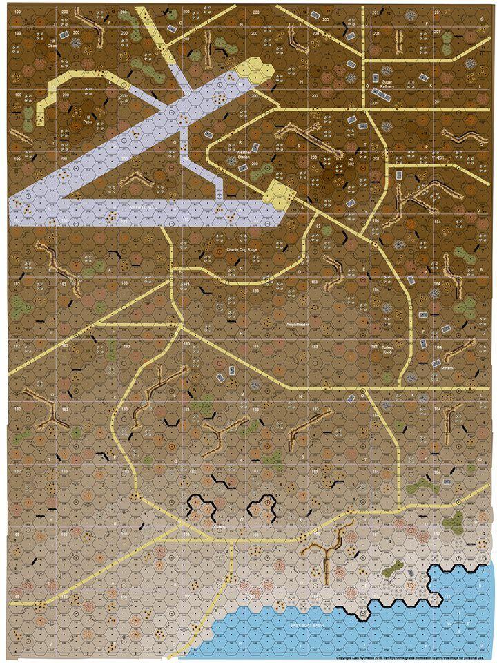 Iwo Jima ASL map I think Iwo
