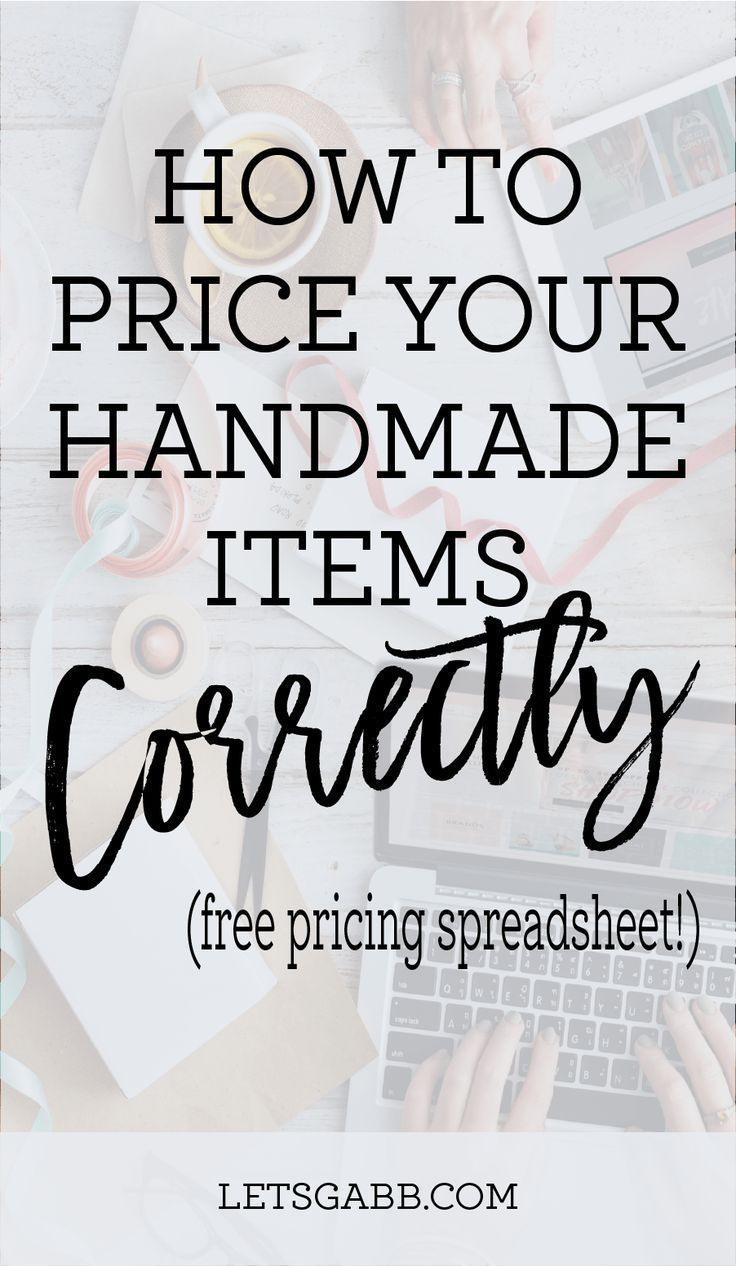HOW TO PRICE YOUR HANDMADE ITEMS #craftstosell