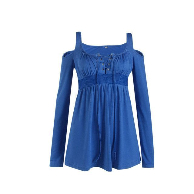 Ladies Hollow Out Sleeve Blouse Women Fashion Tops Shirt
