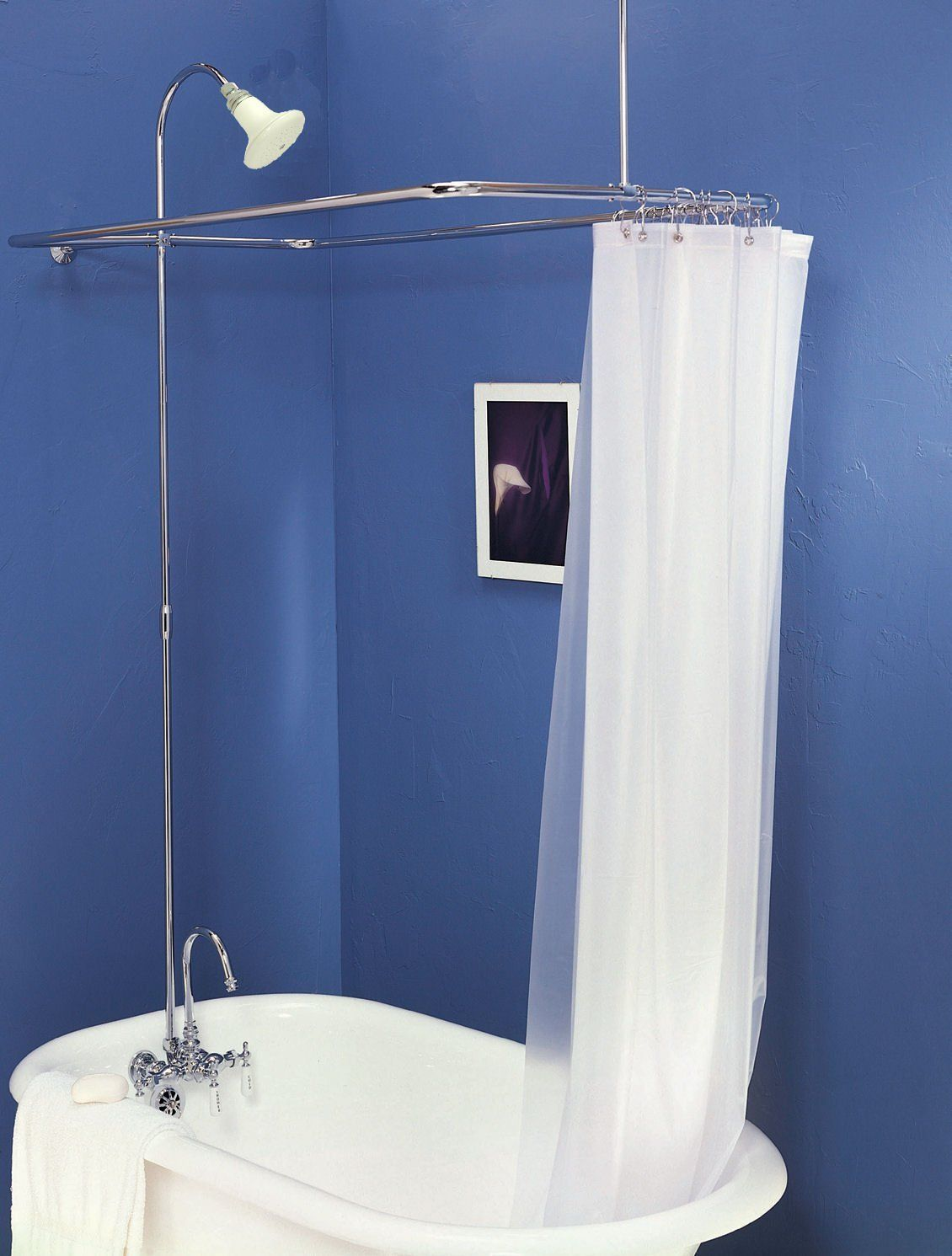 Claw Foot Add On Shower For Clawfoot Tub With Riser Diverter