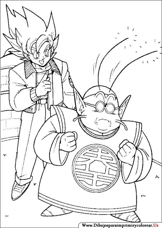 Dibujos De Dragon Ball Z Para Imprimir Y Colorear Monitos