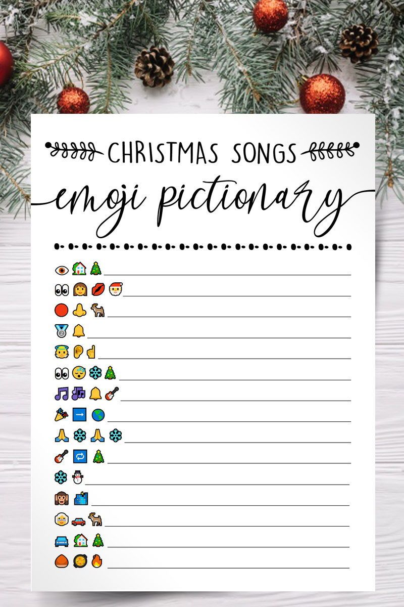 10 In One Christmas Party Games Christmas Songs Emoji Pictionary Quiz Christmas Trivia Christmas Printables 480 In 2020 Christmas Trivia Family Christmas Party Christmas Party Themes