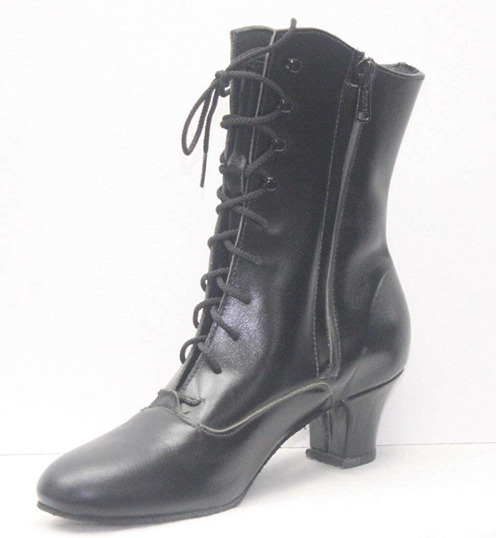 Viktorianischen Schuhe, antike schwarze Damen Stiefel