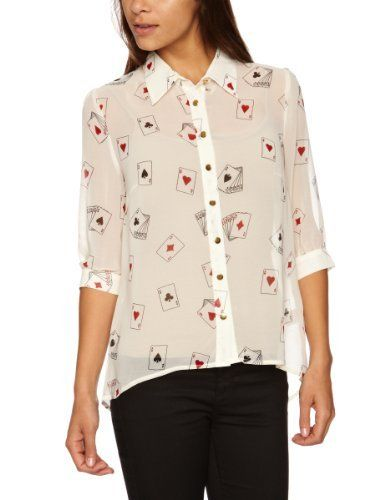 Sugarhill Boutique Pokerface Women's Blouse Cream X-Small Sugarhill Boutique, http://www.amazon.co.uk/dp/B008A5ZDBS/ref=cm_sw_r_pi_dp_A5J4qb1AANGSG