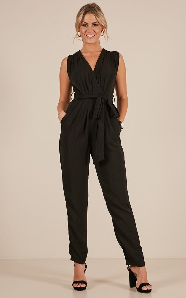986a6e06f62e Workaholic Jumpsuit In Black Produced in 2019   Working Woman   Black  jumpsuit outfit, Jumpsuit, Jumpsuit outfit