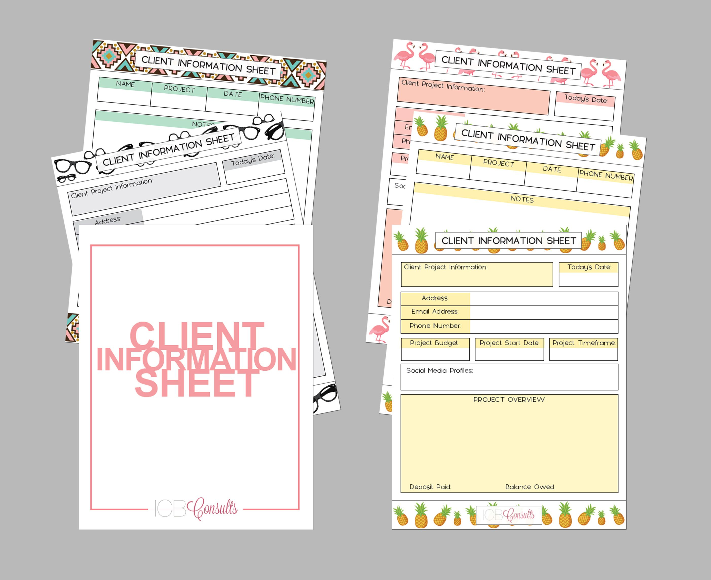 Client Project Information Sheet Is For You Gather