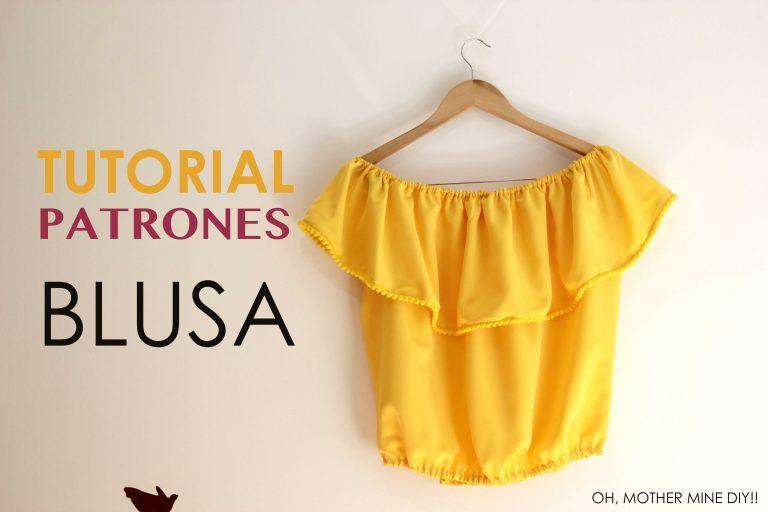 DIY Tutorial: Blusa sin hombros (patrones gratis) – Corte & Costura ...