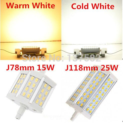 Dimmable R7s Led 15 W 25 W Smd5730 78mm J78 118mm J118 Ampoule Led Lampe Ac85 265v Remplacer Halogene Projecteur Led 25th Warm White