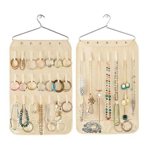Canvas Necklace & Bracelet Organizer