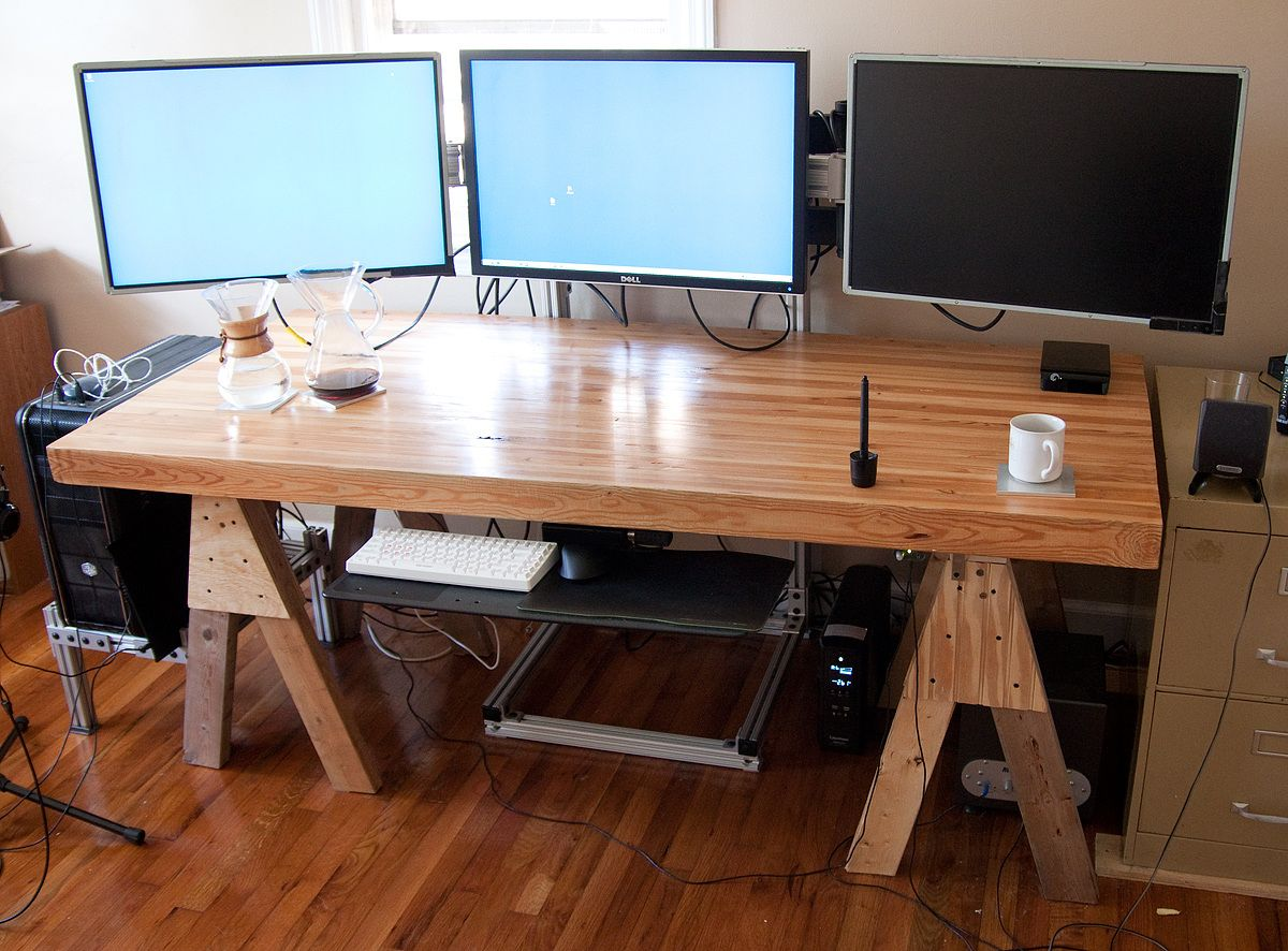 Build Your Own Office Desk   Real Wood Home Office Furniture Check More At  Http: