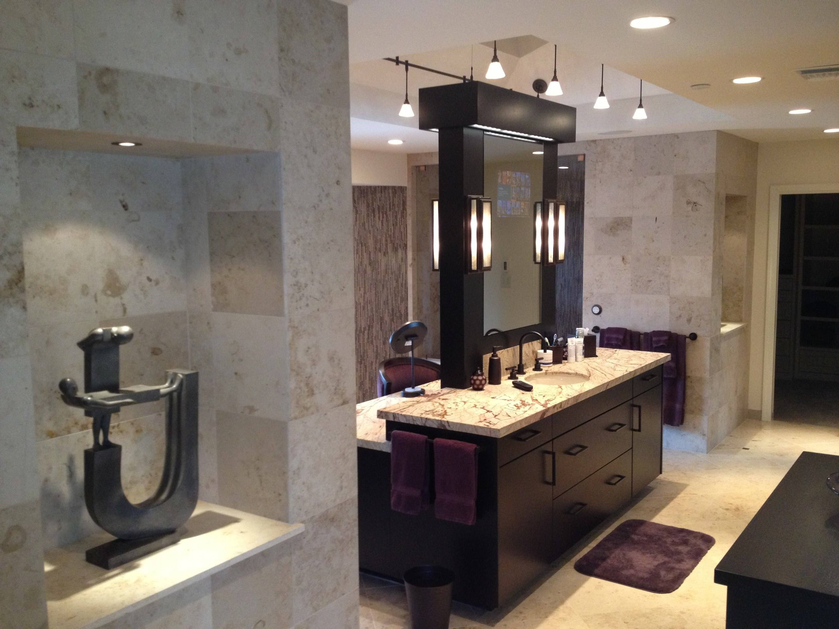Double Sided Floating Mirrors Bathroom