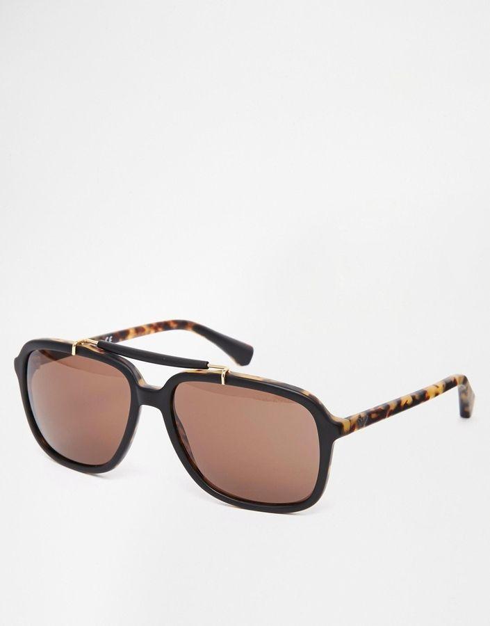 Gafas de Sol Marrónes de Emporio Armani   Pinterest   Emporio armani ...