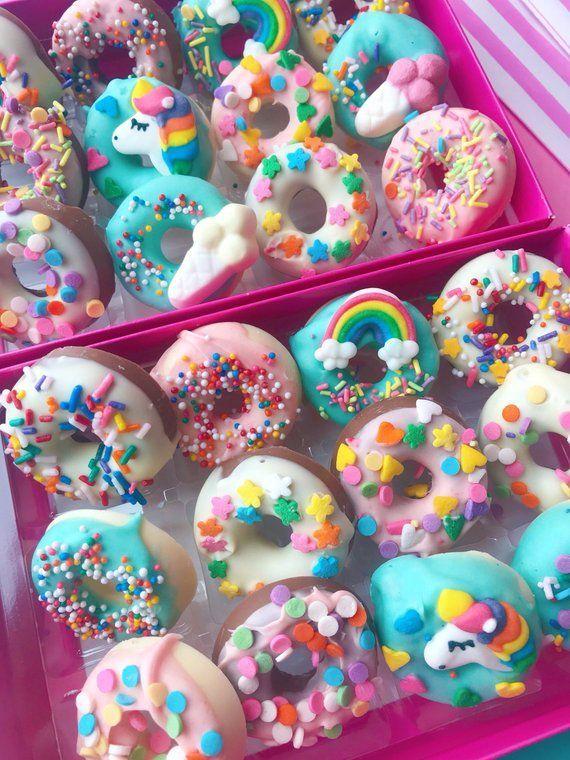 Unicorn chocolate shaped donuts #donutcake