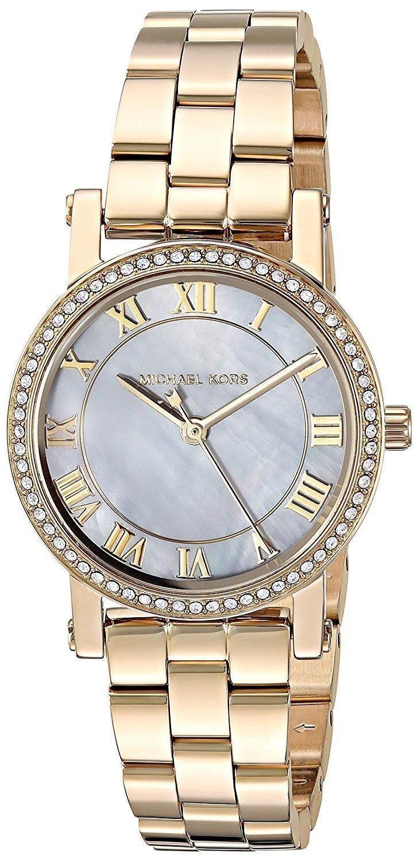 df2d1581a038 Michael Kors Petite Norie Quartz Diamond Accent Mk3682 Women s Watch ...