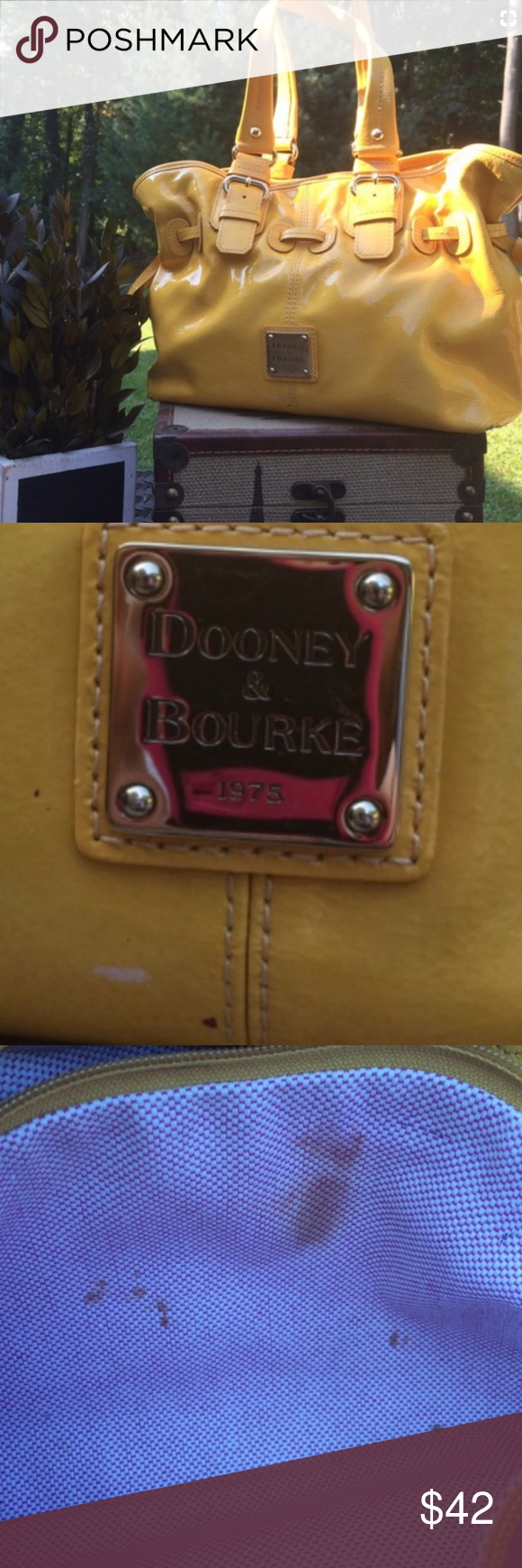 Dooney & Burke Chiara Bag Sunshine yellow patent leather