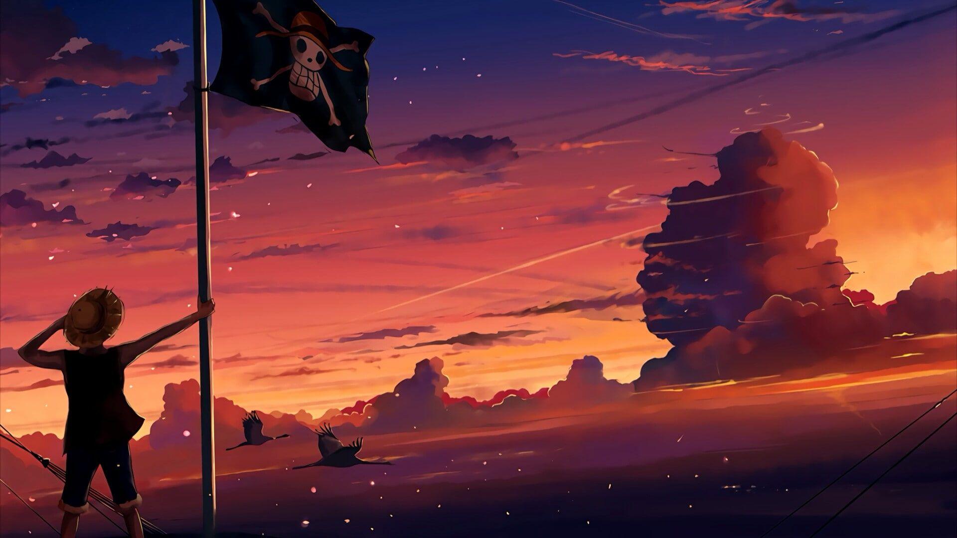 One Piece Anime Cloud Sky Water Blue Nature 3