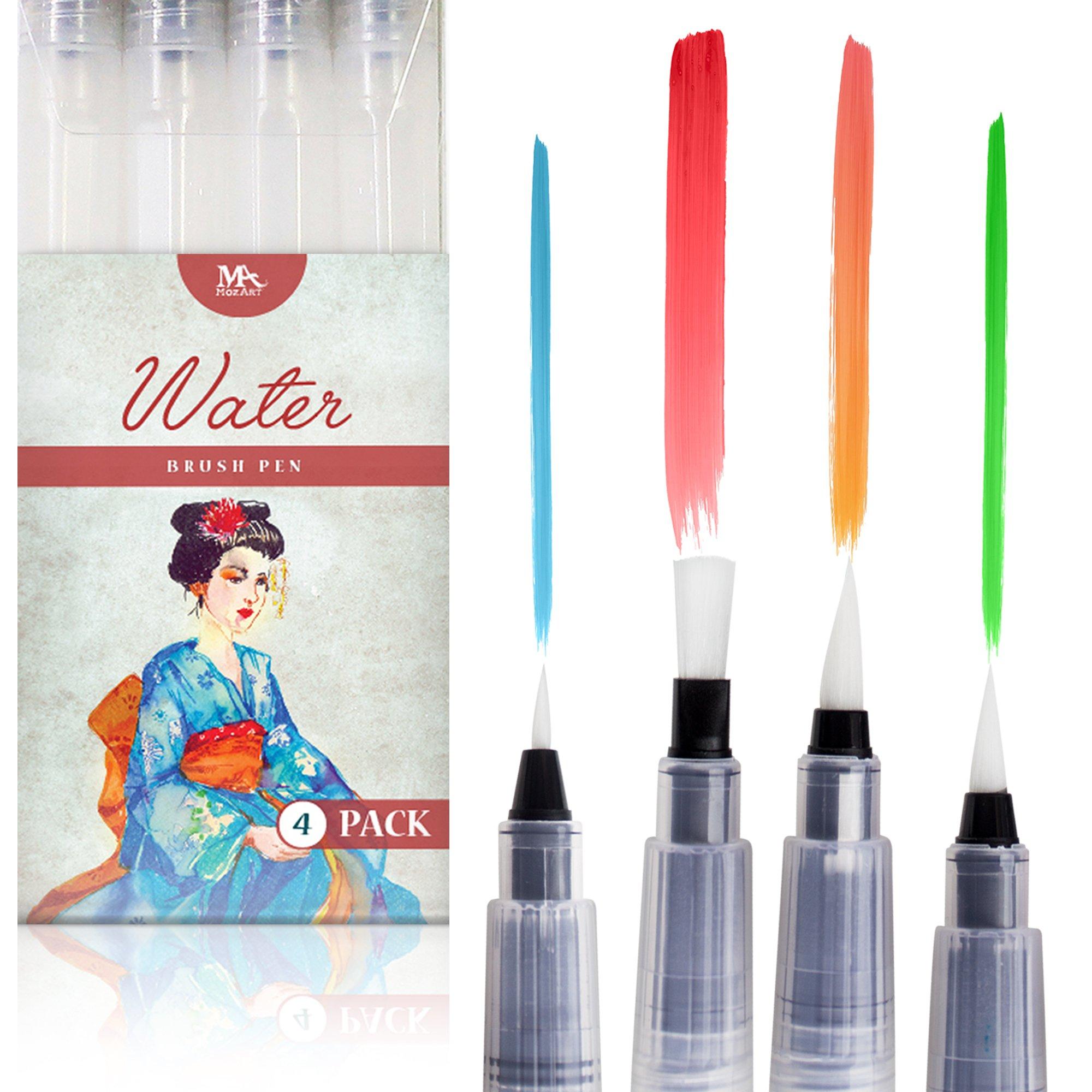 Water Brush Pen Set 4 Pcs Water Brush Pen Brush Pen Water Brush