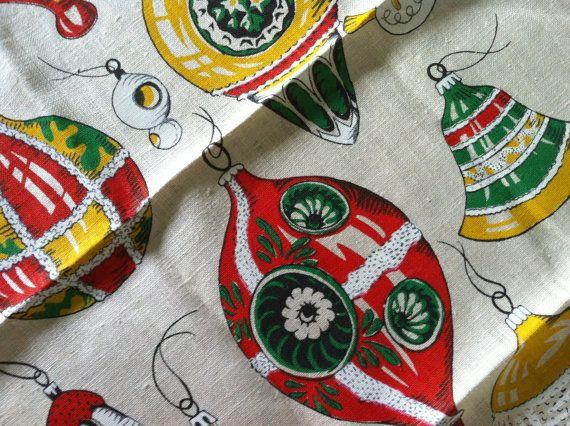 Mint Vintage Towel Bird Christmas Tree Ornaments