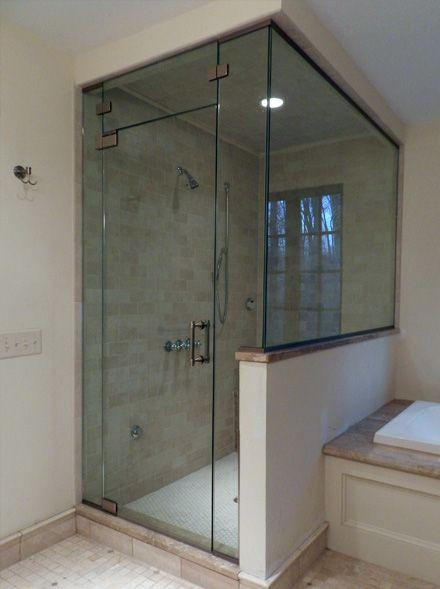 Frameless Glass Bathtub Doors With Glass Half Wall Shower Door