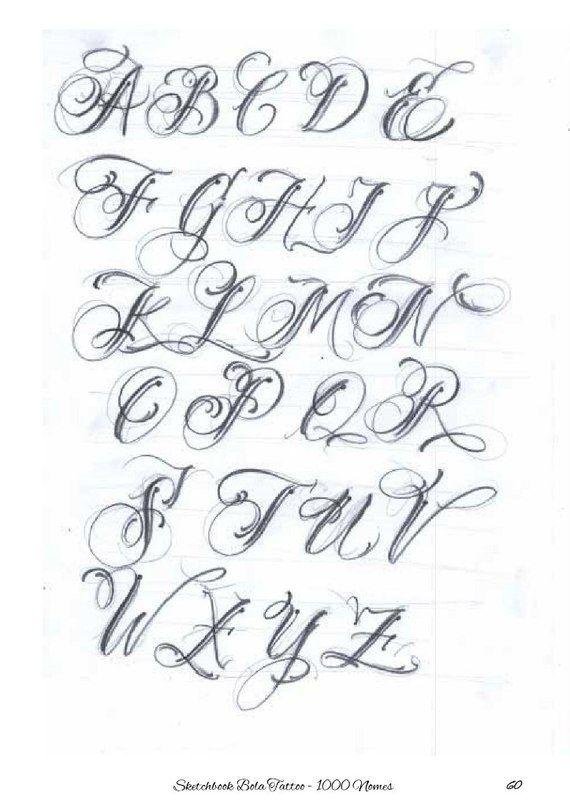Bola Sketchbook 1000 Nomes Tattoo Lettering Fonts Graffiti Lettering Fonts Lettering Alphabet