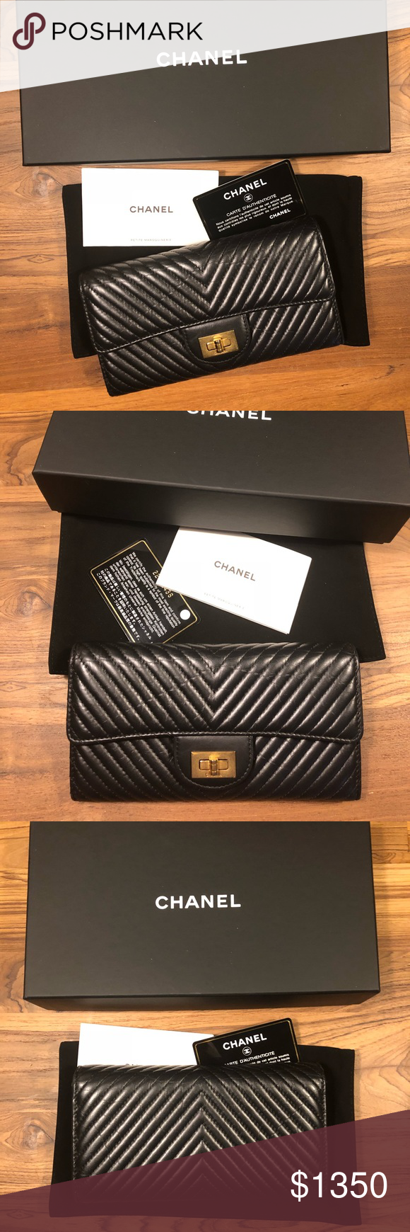 caf4230bed85 Authentic 2017 Chanel Chevron 2.55 Long Wallet Unicorn alert 🦄 Rare  combination of chevron and