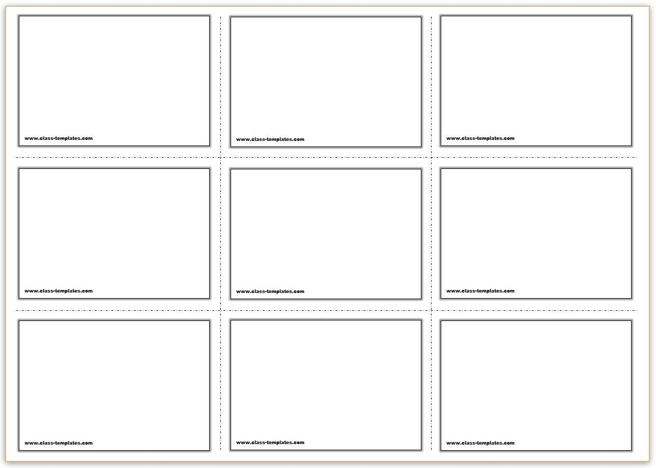 X Free Printable Flash Cards Template  Ict