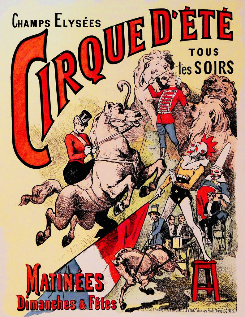 French vintage circus poster images for Circus posters free