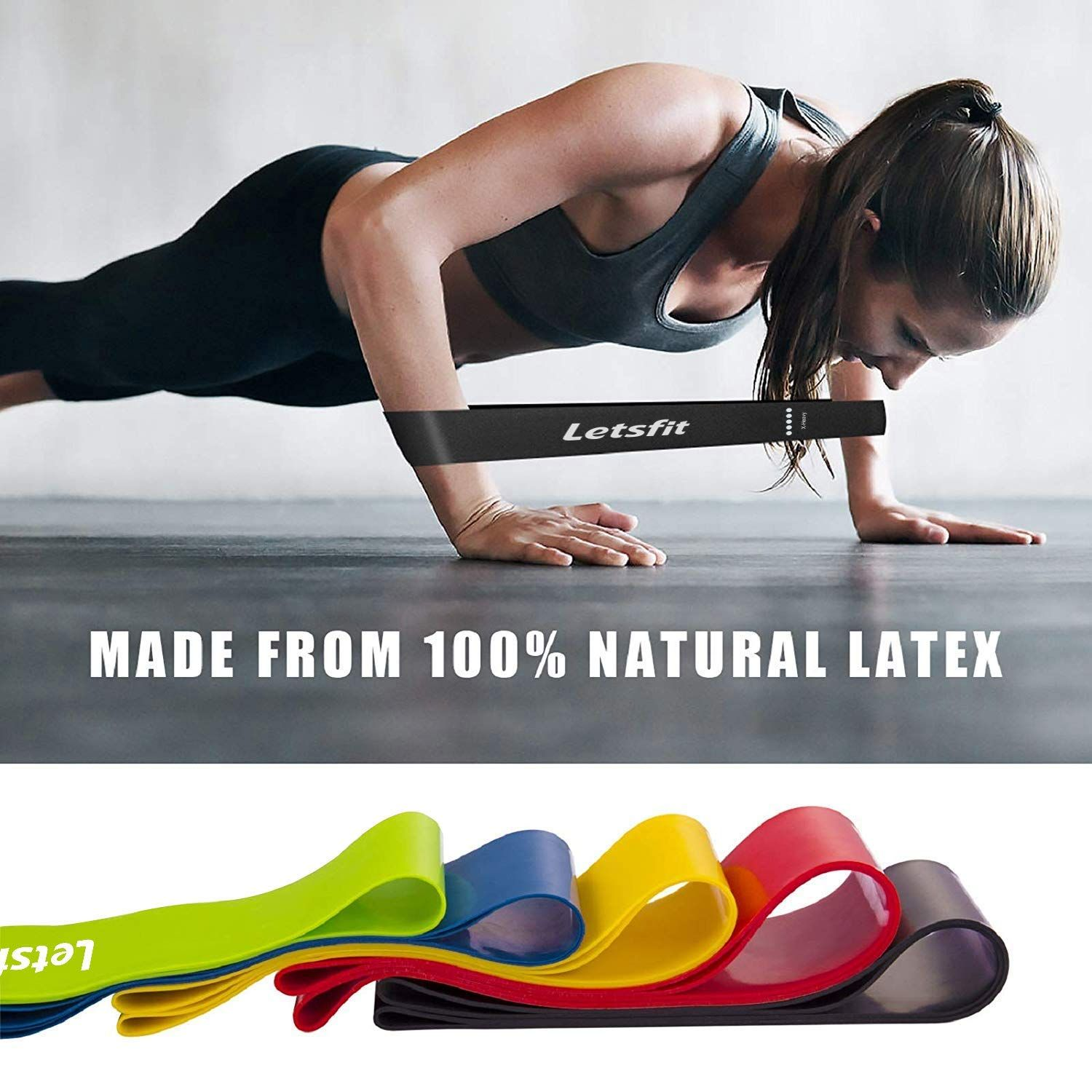Latex Resistance Bands Loop Yoga Pull Up Assist Band Exercise Strength Training