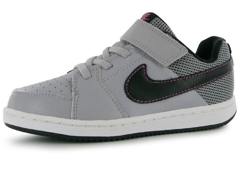 Girls Boys Nike Trainers Backboard II Grey Black Leather UK Size 1 EU 33 NEW 85c8d889735b