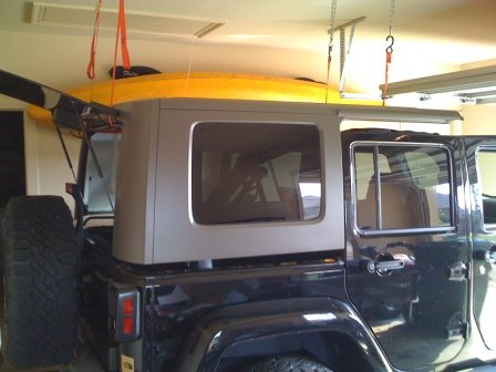 Cheap And Easy Hard Top Hoist Jkowners Com Jeep Wrangler Jk Forum In 2020 Jeep Tops Jeep Hardtop Storage Hoist