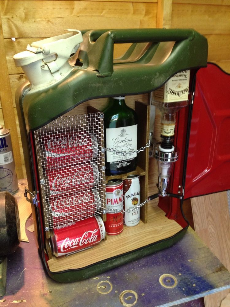 Upcycled Jerry Can Mini Bar Ideal Gift Camping