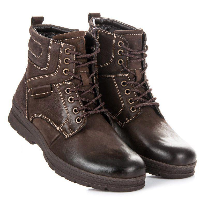 Trekkingowe Meskie Mazaro Mazaro Brazowe Wysokie Trapery Hiking Boots Boots Combat Boots