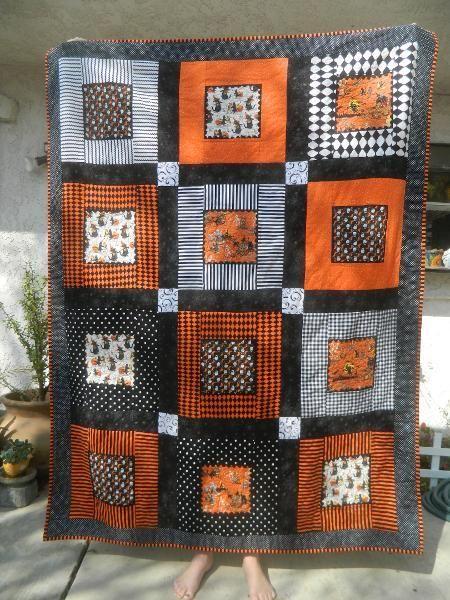 Quilts Halloween On Pinterest Halloween Quilts