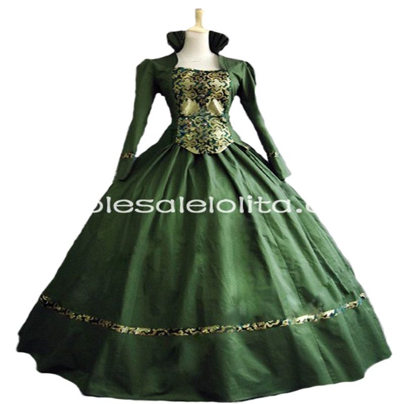 Purple Gothic Victorian Brocade Dress Ball Gown Steampunk Dress ...