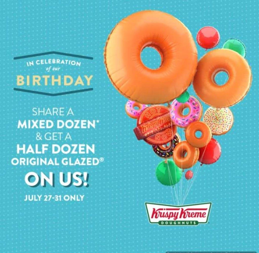 Krispy kreme 81st birthday treat july 27 to 31 2018