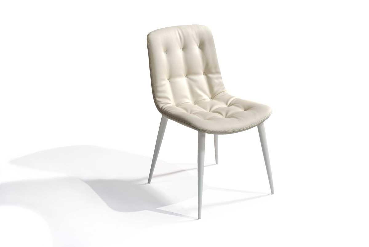 Gdc788 Chaise Confortable En Simili Cuir Coloris Blanc In 2020