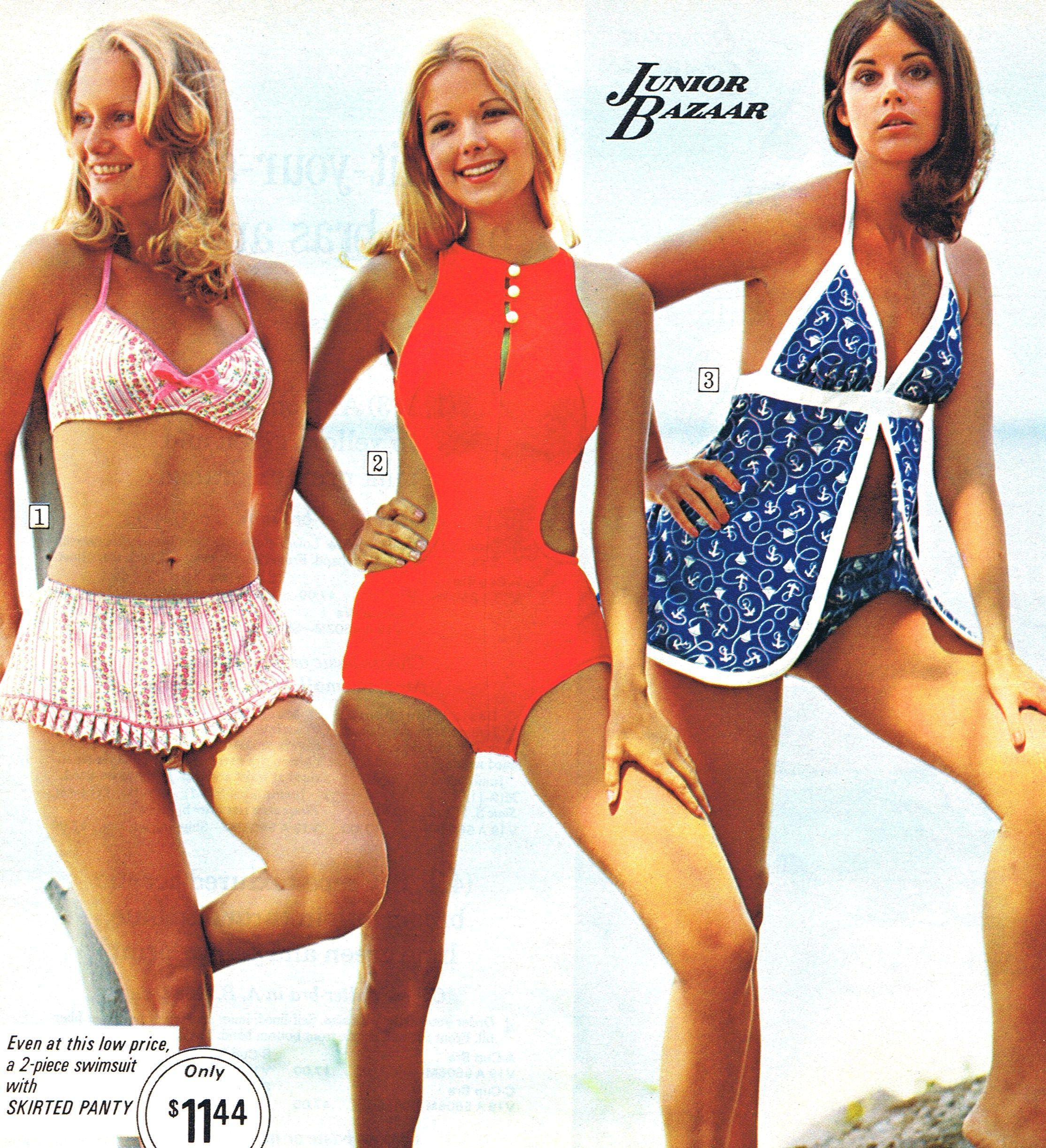 e7f5ca3f04 70 s swimwear.. had a couple of suits like the blue one above. LOVED them.  Wish they still made this style