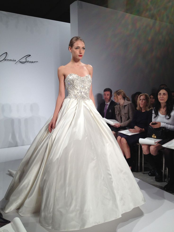 This elegant and glam Knetemann Basso ball gown is paired with a ...