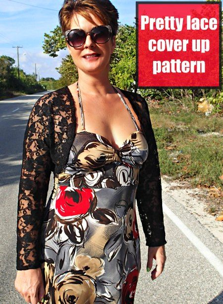 Sew a pretty lace jacket   Strapless dress, Free pattern and Patterns