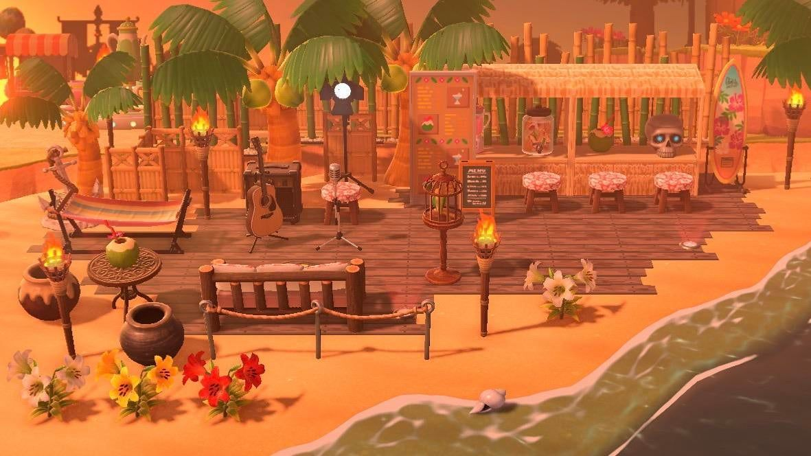 Photo of r/AnimalCrossing – My beach bar at sunset