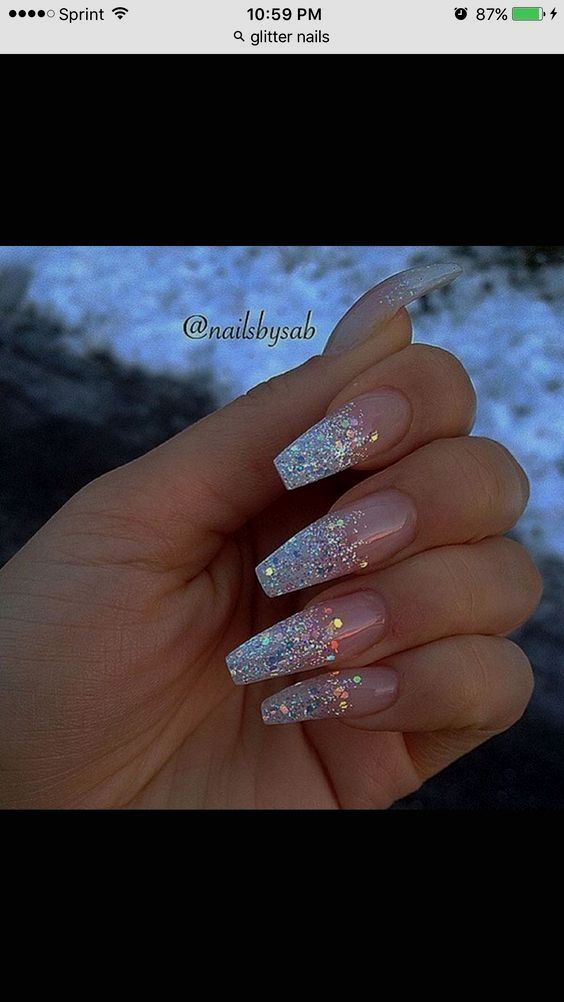 Coffin Nails Styles Ideas With Images Coffin Shape Nails Coffin Nails Long Holographic Nails