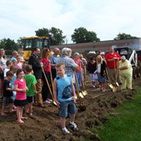 People at Groundbreaking celebration, North Sioux City #SDSLCornerstone @North Sioux City Community Library