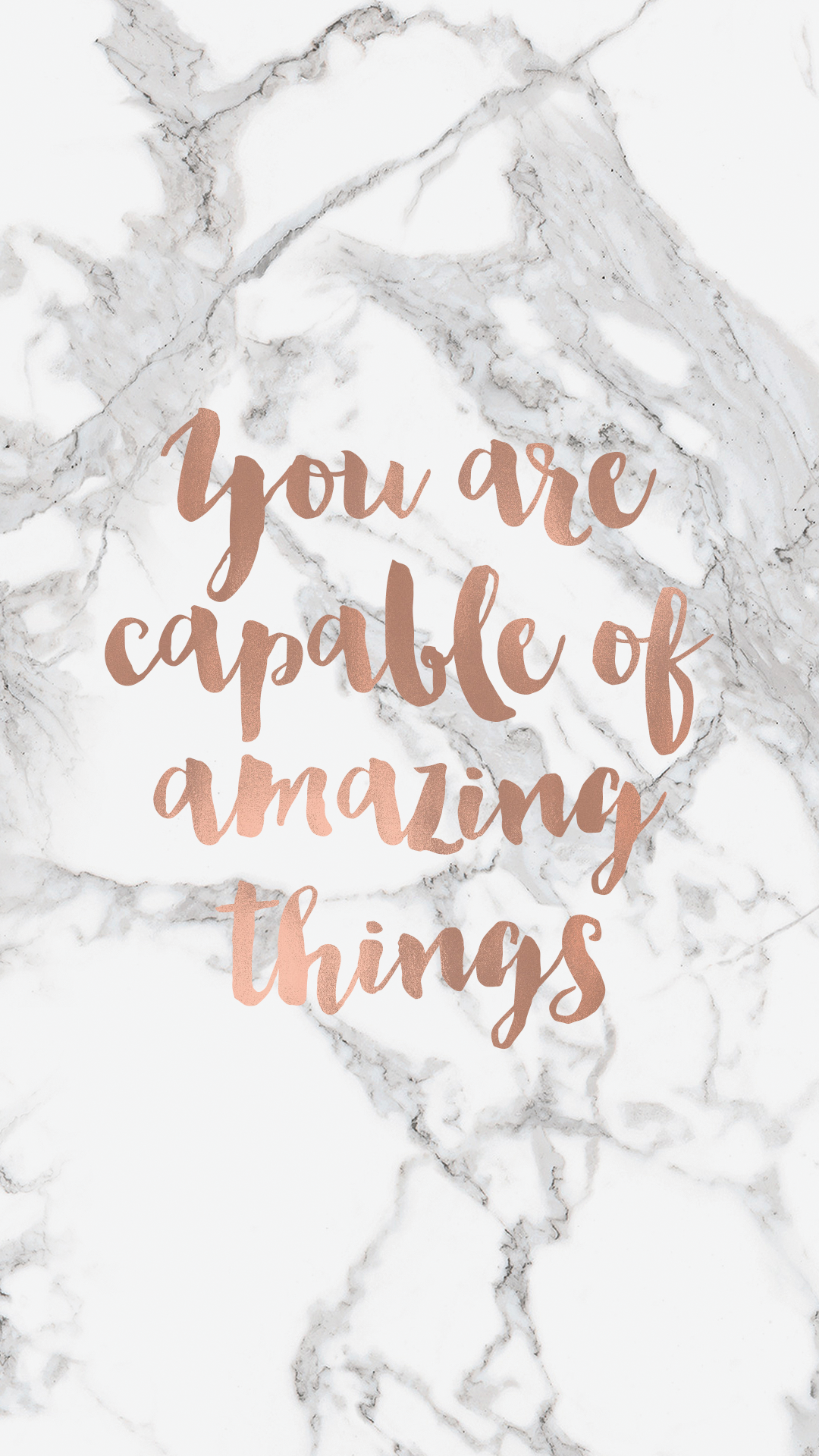 You Are Capable Quote Phone Background Rose Gold Quotes