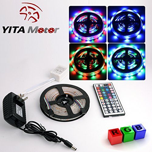 Led Light Strips With Remote Awesome $2599  Yitamotor Rgb Flexible Led Strip Lights 44Key Ir Remote 12V